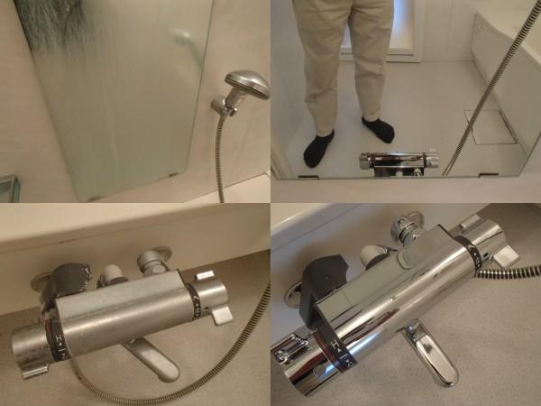 浴室鏡と混合水栓をピカピカに