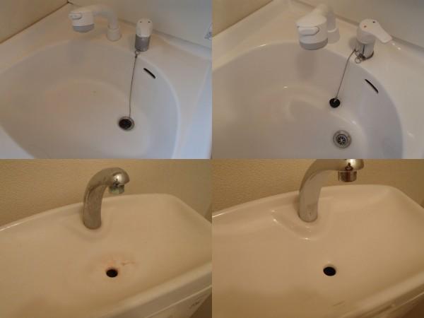 洗面台とトイレ手洗いのクリーニング