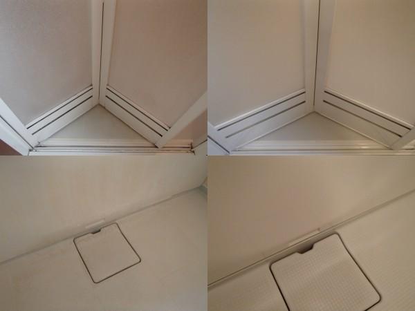 浴室ドアやエプロンのクリーニング
