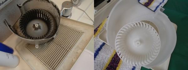 浴室換気扇の分解クリーニング