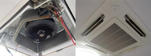 天井埋め込み型エアコン,クリーニング後の試運転