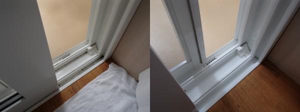 窓のレールをキレイに仕上げる