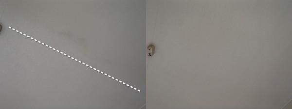 壁紙(天井)を洗う