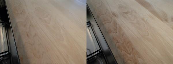 キッチンカウンター天板の油抜き