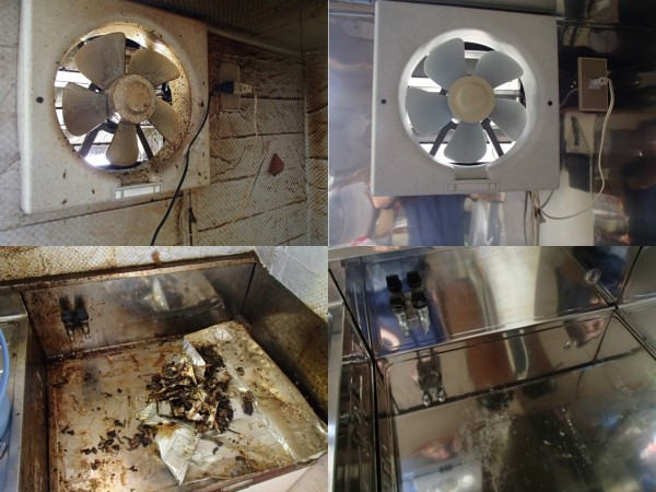 キッチン油汚れのクリーニング