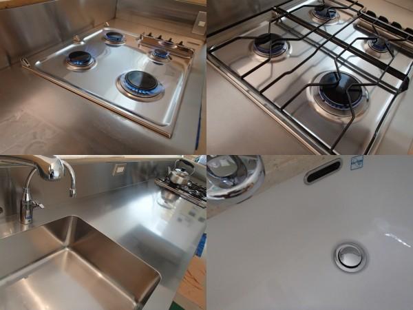 キッチンカウンタートップはステンレスで統一