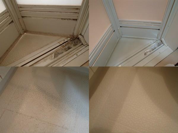 浴室ドア周りと床のお手入れ