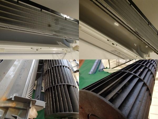 三菱自動お掃除機能付きエアコンクリーニング