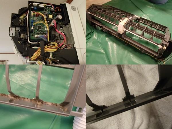 三菱お掃除エアコン 基盤とお掃除ユニット