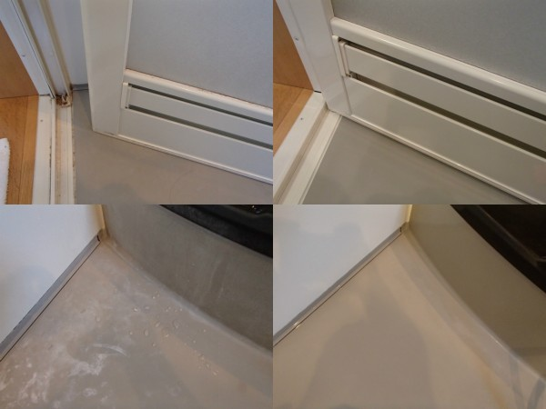 浴室ドアのお手入れと床の石鹸カス除去