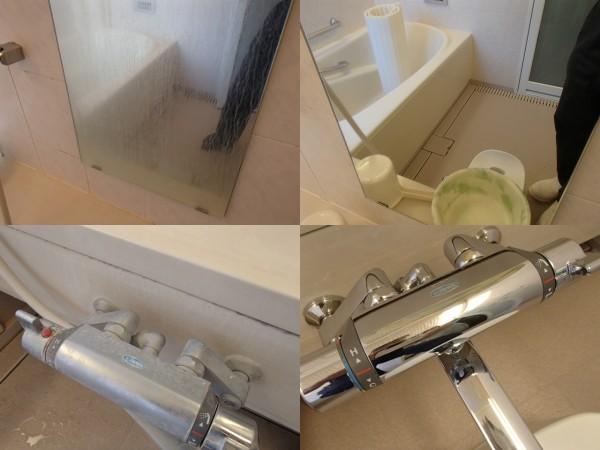 鏡の再生と水栓金具の再生