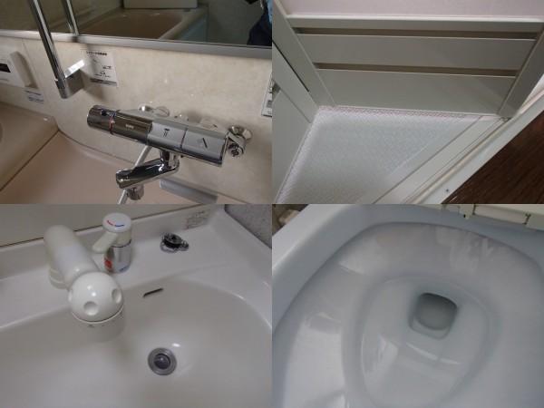 浴室とトイレのクリーニング