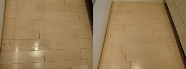 キッチン床の剥離洗浄