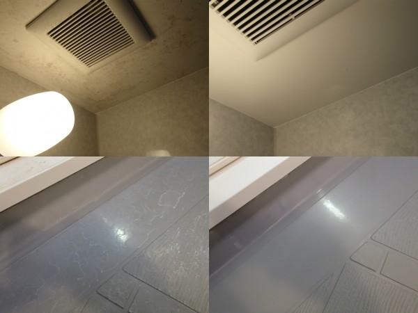 浴室のカビと水あか除去