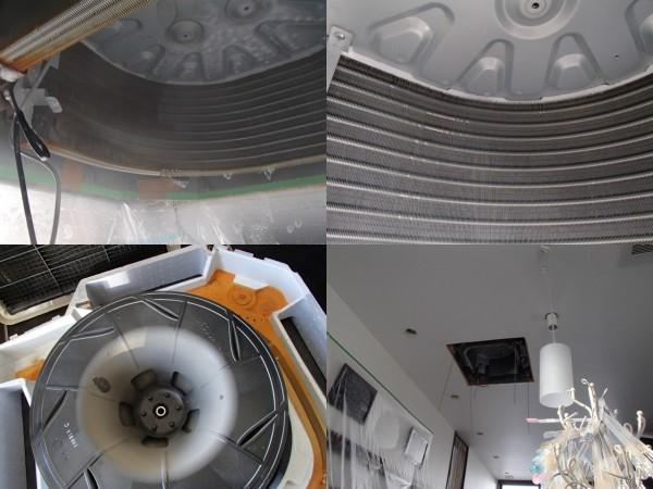 ネイルサロンの天井埋め込みエアコンを洗う
