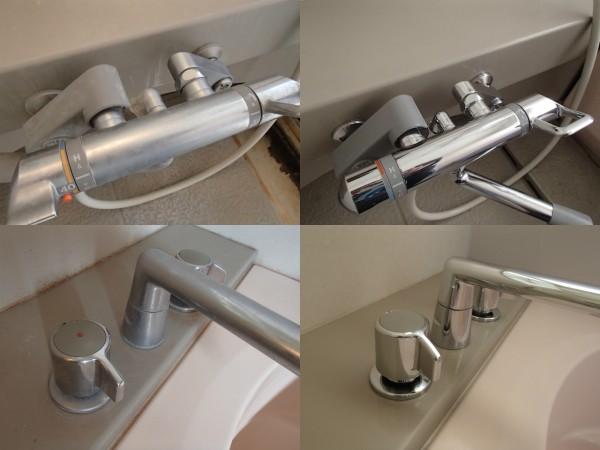 浴室シャワー混合栓やカランを磨く