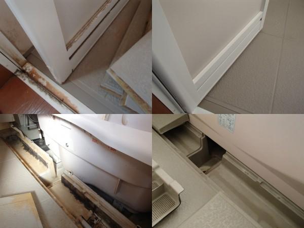 浴室ドアや排水溝部分をリセット