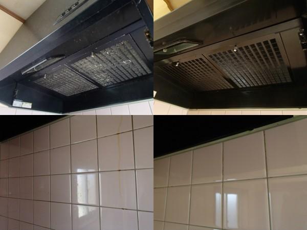 レンジフード分解クリーニングと壁面油汚れのお手入れ