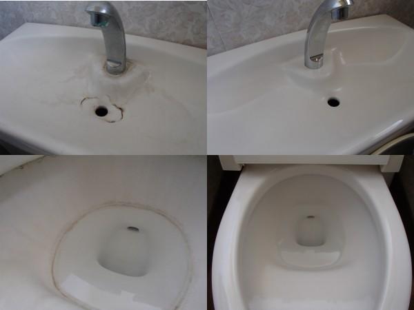 玉村町でトイレ陶器内のクリーニング