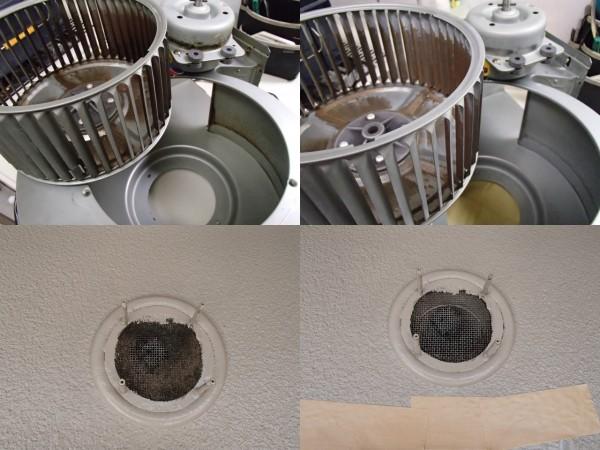 レンジフードの分解クリーニング,換気扇のお手入れはダクトの出口も重要。