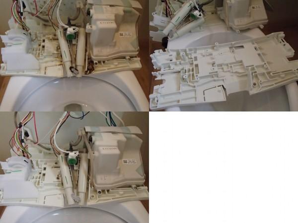 INAXタンク一体式シャワートイレ分解クリーニング