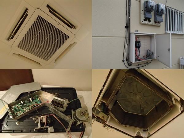 天井埋め込み型エアコンクリーニングの準備