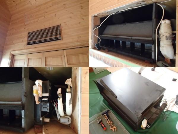 2階の壁埋め込み型エアコン,取り外してのクリーニング