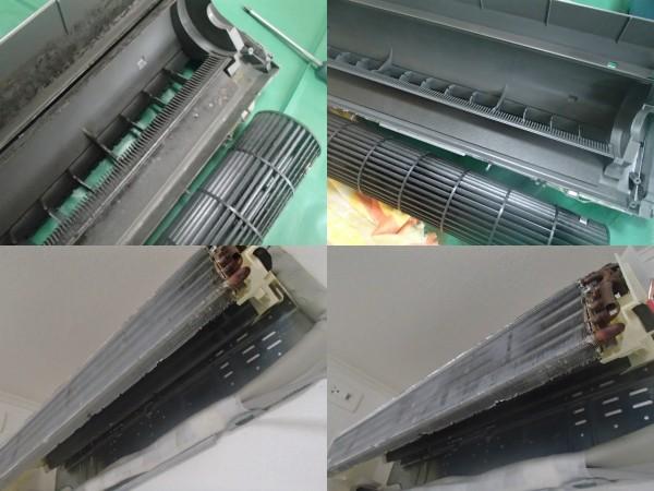 富士通のエアコンは洗いやすい設計です。