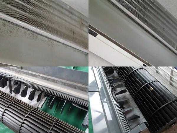 三菱フィルター自動お掃除エアコンの分解クリーニング