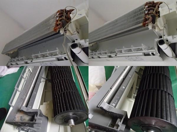 日立製エアコン,分解クリーニング