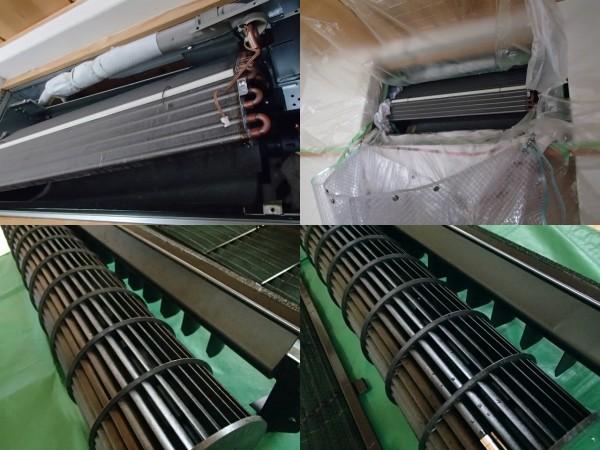 壁埋め込み型エアコンクリーニング