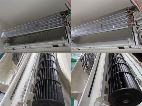ナショナル2007年製のエアコンを洗う