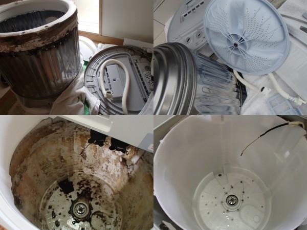 シャープ製洗濯機の分解クリーニング