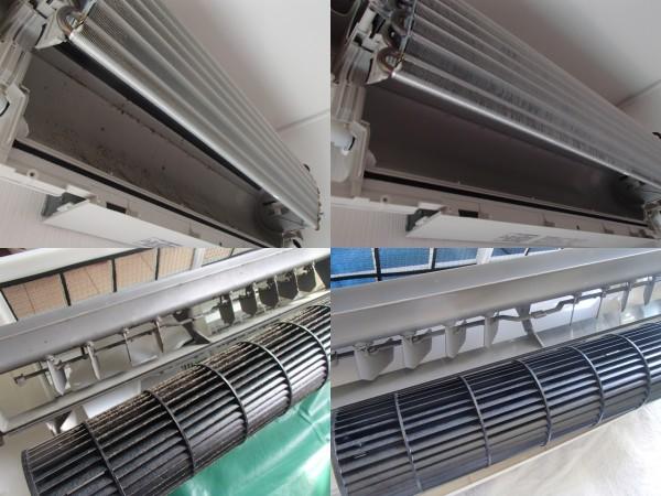リビングに設置されたエアコンは汚れます
