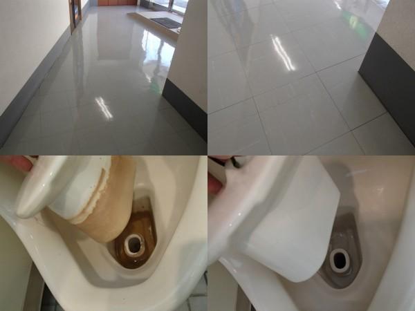 トイレの尿石は浸け置きで簡単