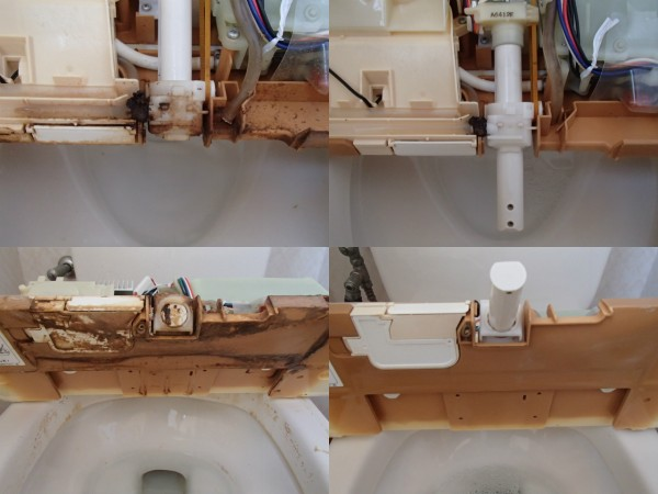 シャワートイレの分解クリーニング