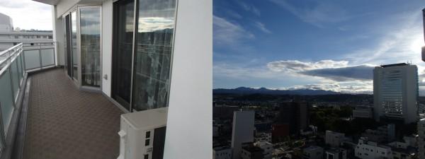 窓ガラスのクリーニングとベランダ洗い