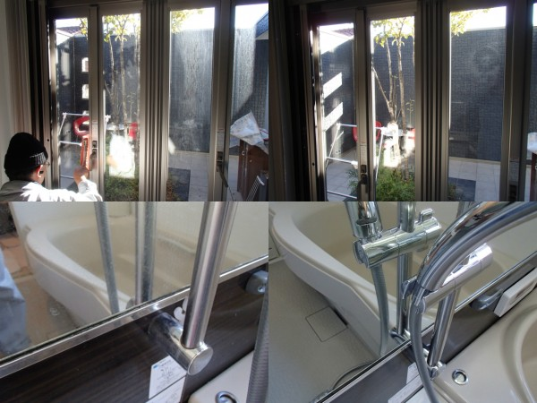 窓ガラスのお掃除と浴室