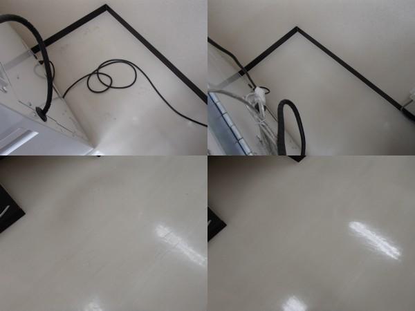 薬局の床の洗浄とワックス