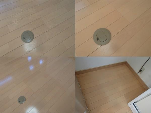 フローリング床の剥離洗浄とワックス