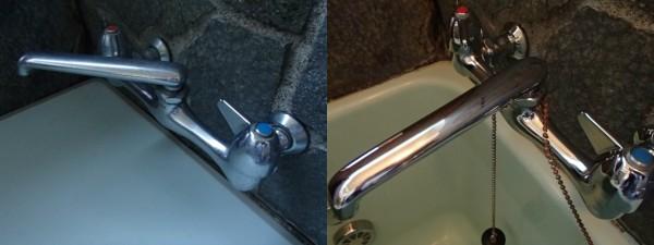 水栓金具の水あかも取って輝かせる