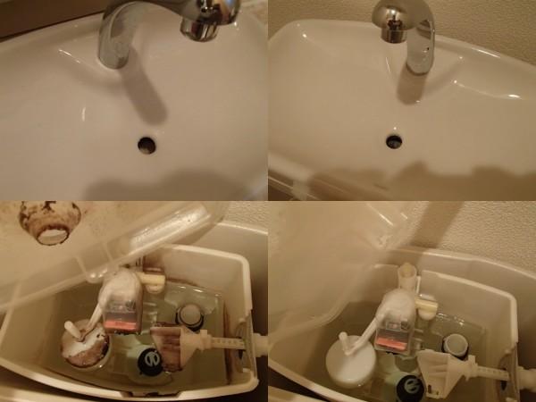 トイレの手洗いとタンク内のお手入れ