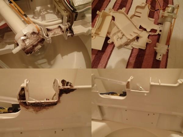 INAXシャワートイレの分解クリーニング