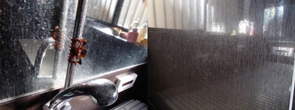 浴室鏡と光沢壁面