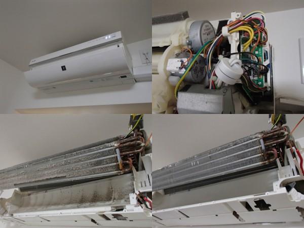 シャープ製お掃除エアコンの分解クリーニング