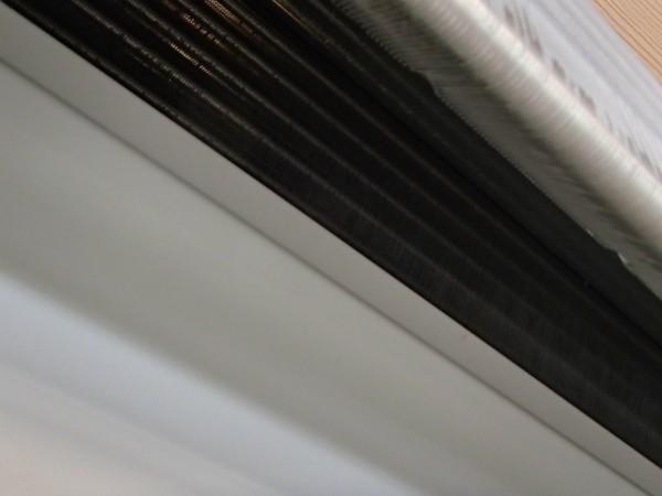 洗い終わった熱交換器