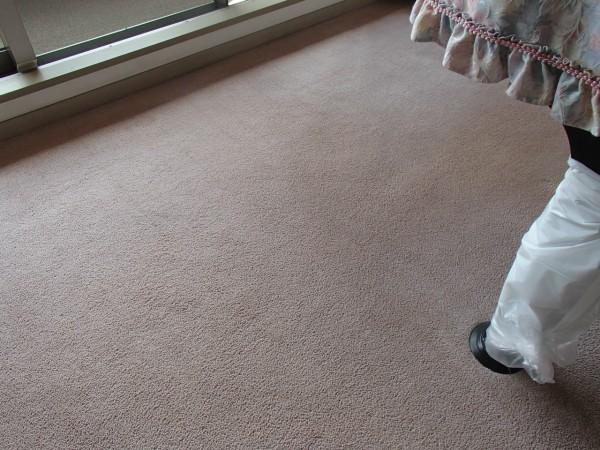 ピアののある部屋のカーペットクリーニング