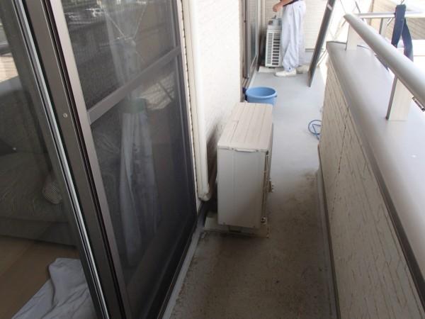 ベランダと窓ガラスのお掃除