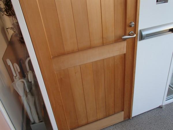 檜無垢板のドア