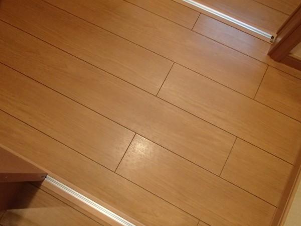 洗浄後の床